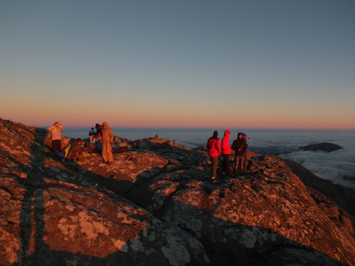 on Sapitwa summit, morning